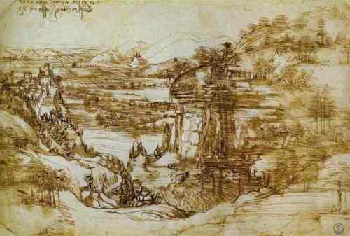 Leonardo da Vinci - Arno Landscape